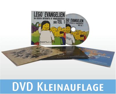 DVD Kleinauflagen in Kartonstecktaschen